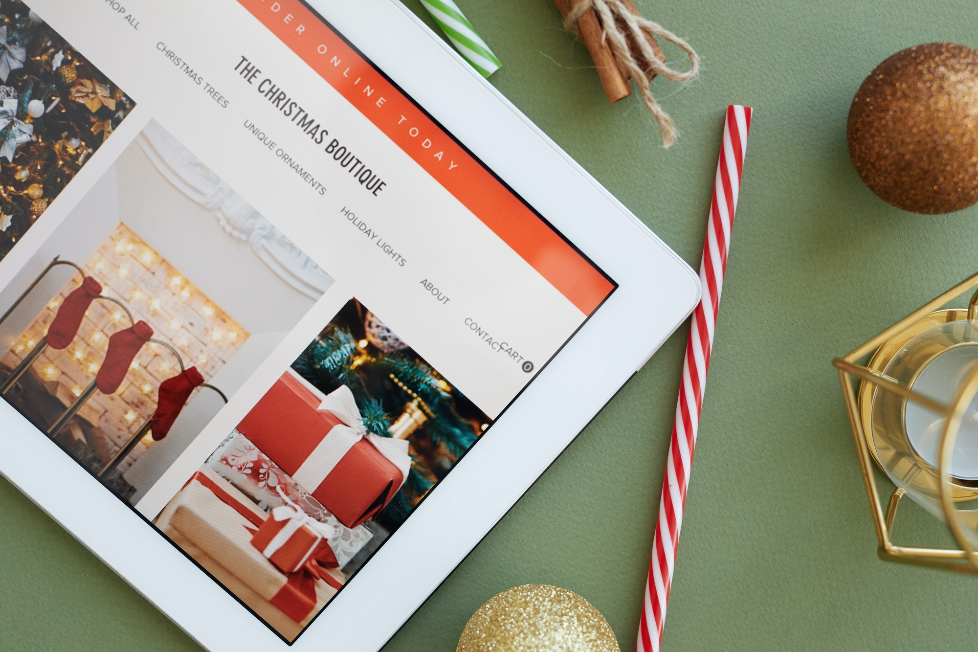 Online store of Christmas goods